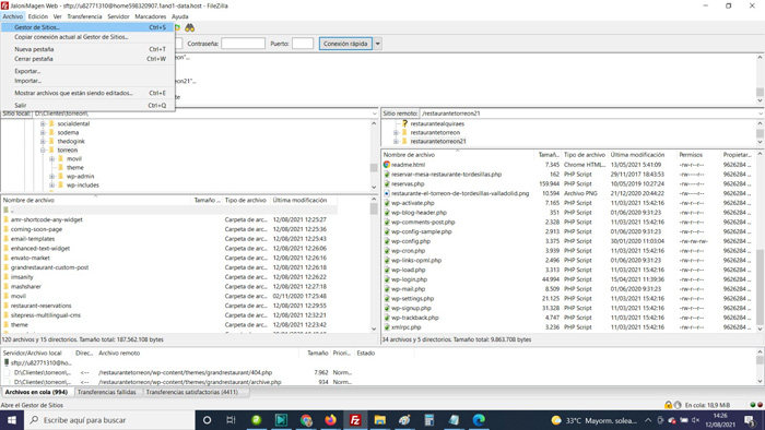 Añadir nuevo sitio para conectarnos con FileZilla